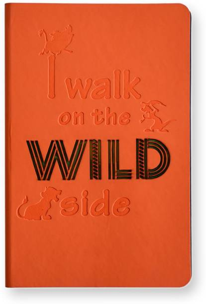 doodle Lion King (Wild) Soft Bound A5 Notebook Blank 160 Pages