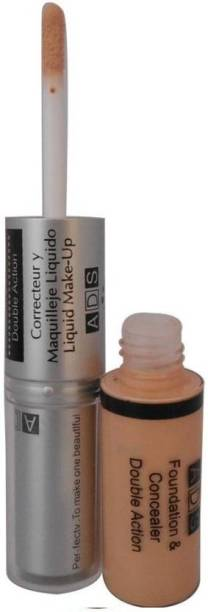 ads 2 IN 1 FOUNDATION AND CONCEALOR IN NATURAL COLOR FOR ALL SKIN TYPE Foundation