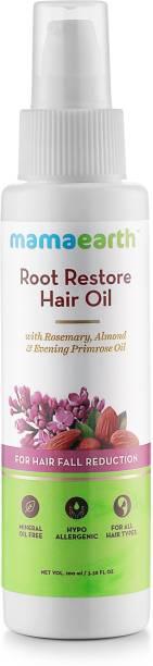 MamaEarth Root Restore Hair Oil 100ml with Bhringraj, Jojoba, Almond, Olive, Rosemary Oil and Vit. E Hair Oil