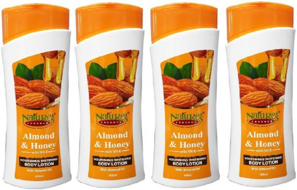 Nature's Body Lotion With Almond Oil 100ml pack of 4