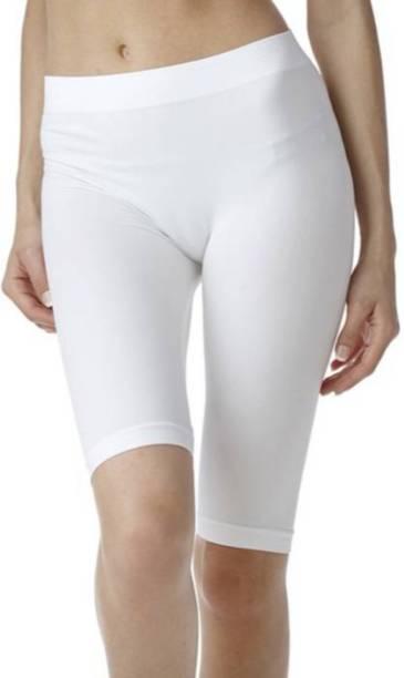 Apraa & Parma Solid Women White Sports Shorts