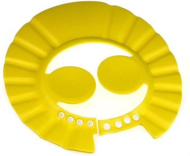 First Trend Adjustable Baby Kids Shampoo Bath Bathing Safe Soft Shower Button Closure Cap Hat Hair Shield