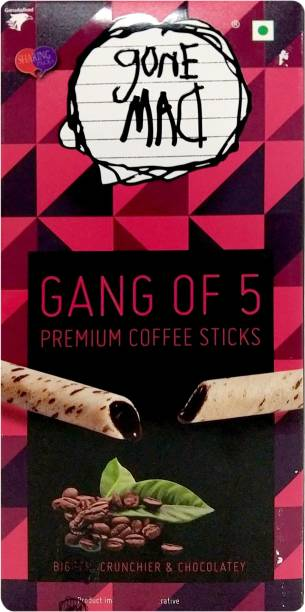 Gone Mad Gang of 5 Premium Coffee Wafer Rolls
