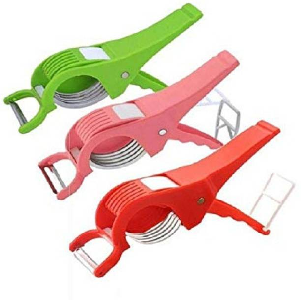 EMPIRE Vegetable Cutter and Peeler for Kitchen, Multipurpose Chopper Vegetable & Fruit Chopper (3 Piece) Vegetable Chopper