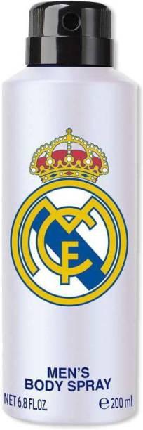 Real Madrid White Deodorant Spray For unisex Deodorant Spray  -  For Men & Women