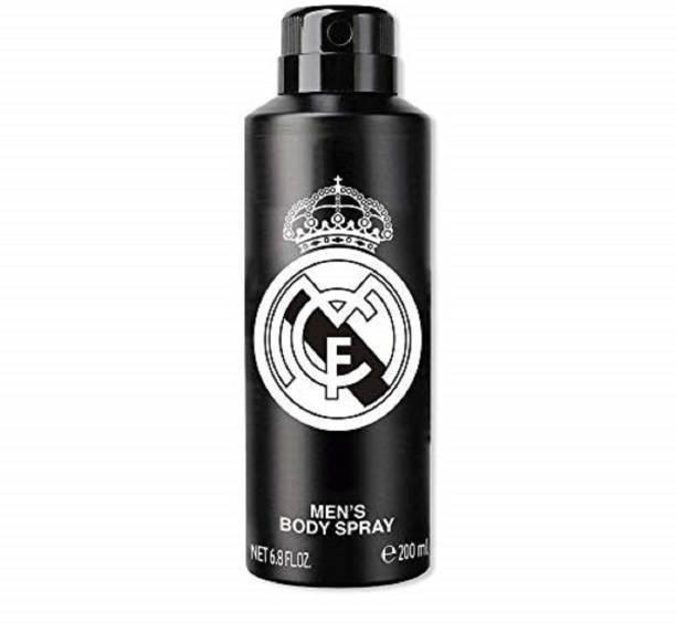 Real Madrid Black Deo For unisex Deodorant Spray  -  For Men & Women
