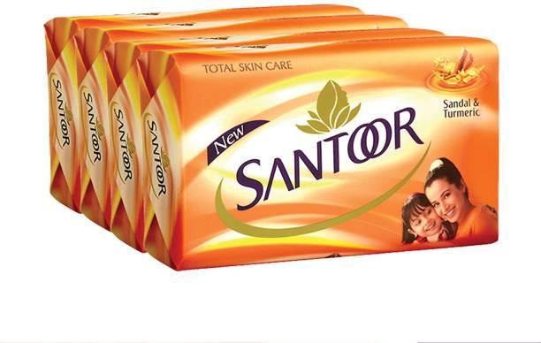 santoor sandal & turmeric 125 gm (pack of 4)