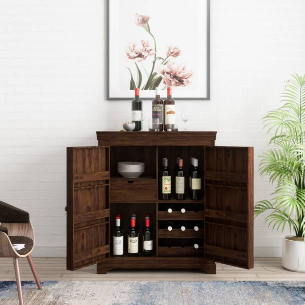 Flipkart Perfect Homes Sheesham Wood Solid Wood Bar Cabinet