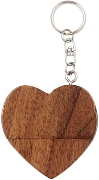 PANKREETI PKT500 Wooden Heart 8 GB Pen Drive