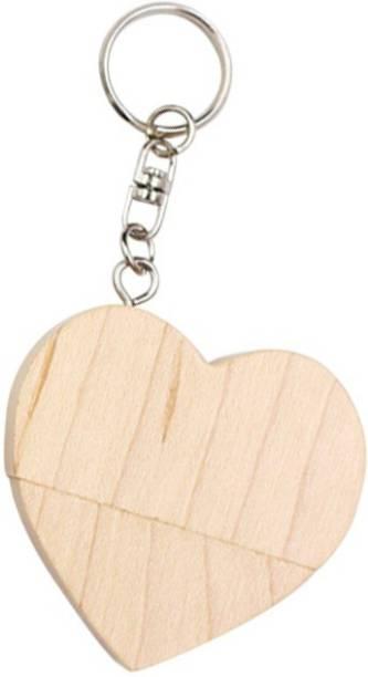 PANKREETI PKT502 Wooden Heart 8 GB Pen Drive