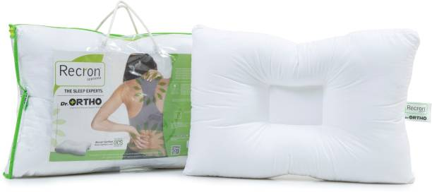 RECRON CERTIFIED Dr. Ortho Microfibre Solid Orthopaedic Pillow Pack of 1