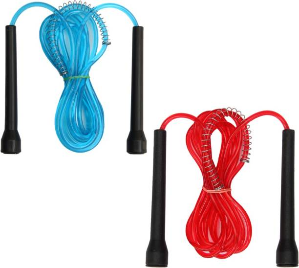 Resh Pack of 2 Pcs (Blue / Red) Freestyle Skipping Rope