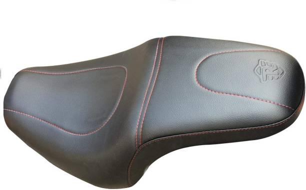 Sahara Seats 350X and 500X Cushion seat Cover (350x, Red Design) Single Bike Seat Cover For Royal Enfield Thunder Bird 350, Thunder Bird 500