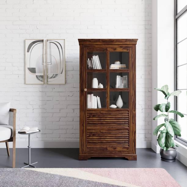 Flipkart Perfect Homes Sheesham Wood Solid Wood Close Book Shelf