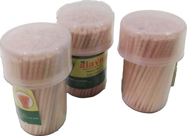 Alanya 150 piece premium Toothpicks - 150 toothpicks per piece(set of three 3)