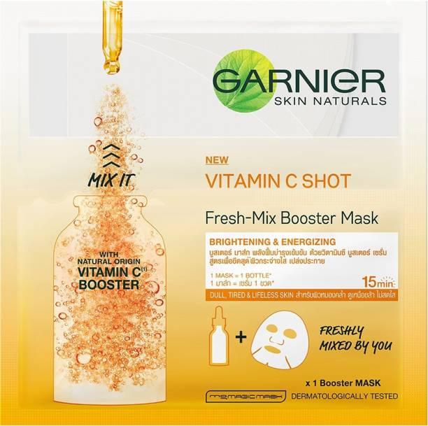 GARNIER Skin Naturals, Fresh Mix Vitamin C, Face Serum Sheet Mask (Orange)
