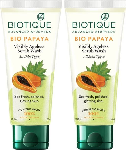 BIOTIQUE BIO Papaya Exfoliating  100 ml X2 Face Wash
