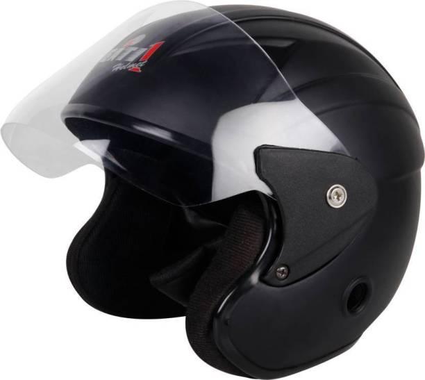 Gati1 Half Face Matt Black Motorbike Helmet