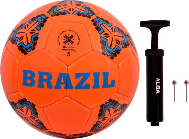 HEUREUX COMBO BRAZIL MACHINE STITCHED FOOTBALL WITH AIR PUMP Football Kit