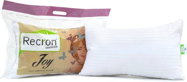 RECRON CERTIFIED Joy Microfibre Solid Sleeping Pillow Pack of 1