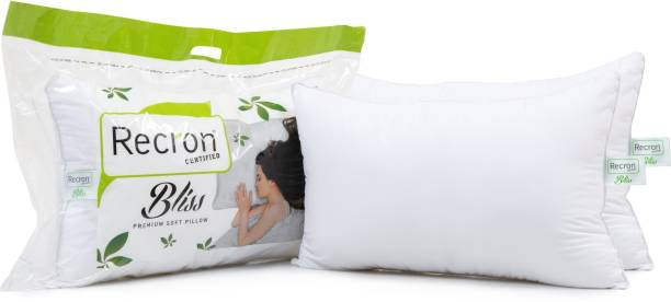 RECRON CERTIFIED Bliss Microfibre Solid Sleeping Pillow Pack of 2