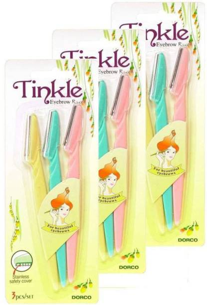 Tinkle EYEBROW RAZOR PACK OF 3 SET