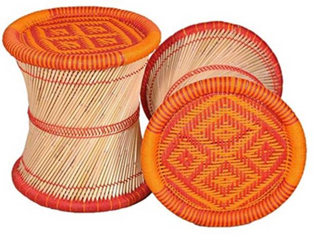 JT Stool Red & Orange Color Set of 2 Outdoor & Cafeteria Stool