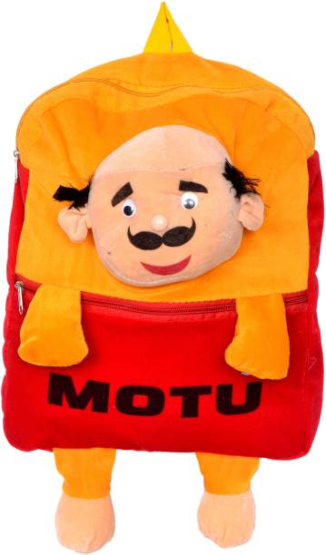 3G Collections Motu Patlu Yellow Teddy Bear Soft Toy Kids Plush Bag/ Backpack Bag/ School Bag/ Carry Bag/ Picnic Bag/ Teddy Bag Waterproof School Bag