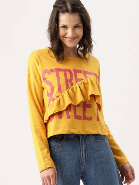 Dressberry Full Sleeve Printed Women Sweatshirt