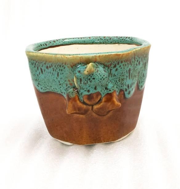 Metier Decorative Glossy Ceramic Planter Pot for Indoor Outdoor Ceramic Vase