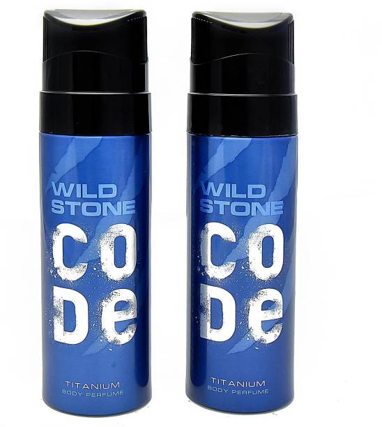 Wild Stone Code Titanium Deodorant Spray  -  For Men
