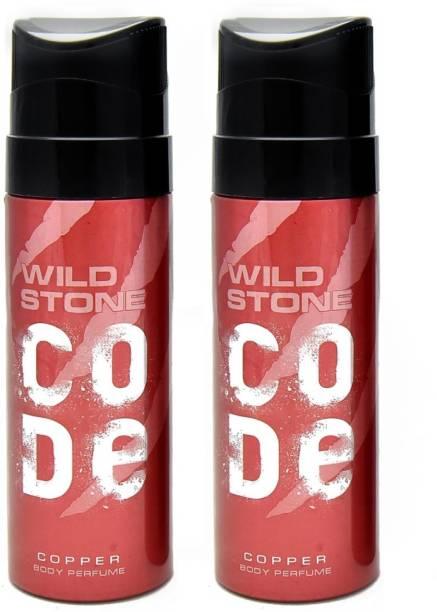 Wild Stone COPPER ( PACK OF 2) Perfume Body Spray  -  For Men