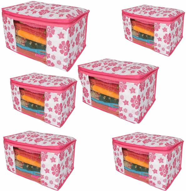 Fancy Walas Presents non woven saree cover storage bags for clothes FW0031_PNK_PK06