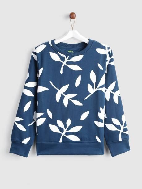 Yk Full Sleeve Printed Girls Sweatshirt