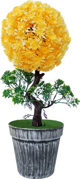 TIED RIBBONS Plant for Office Table Workstation Bonsai Artificial Plant  with Pot