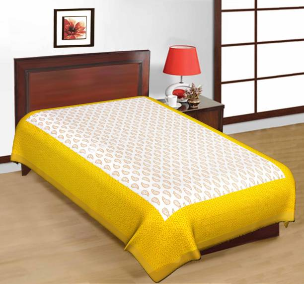 ARTISAN CREATION 120 TC Cotton Single Floral Bedsheet