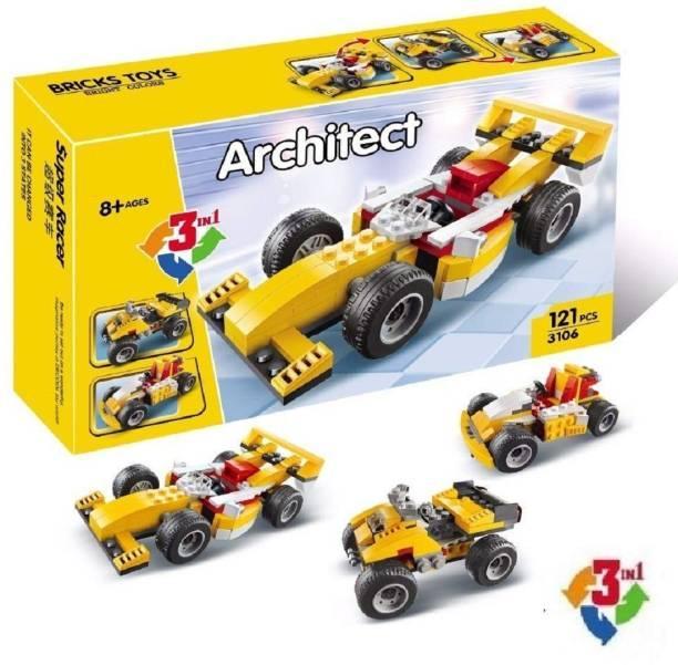 FunBlast Decool Architect Series 3 in 1 – F1 Super Racer Car Building Block