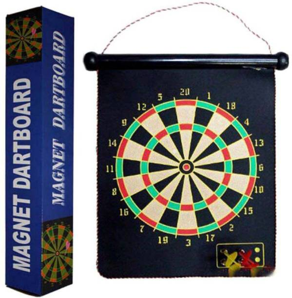 PS Aakriti Magnetic Dart Board Game With Darts - Large Size Board Game Convertible Tip Dart