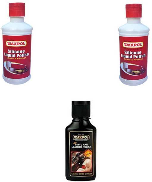 waxpol Liquid Car Polish for Exterior, Dashboard, Leather