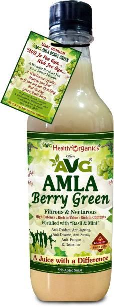 AVG Health Organics Amla Berry Green - Amla Juice with Basil & Mint - No Added Sugar
