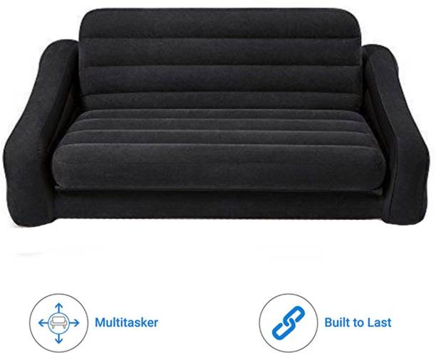 INTEX sofa cum bed with electric air pump Velvet 4 Seater Inflatable Sofa