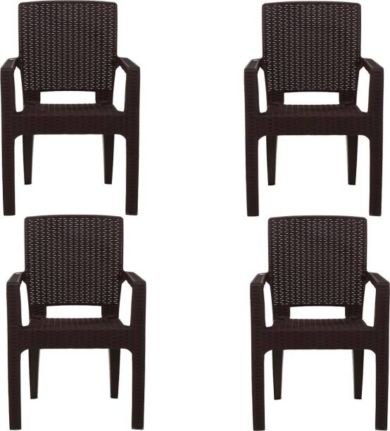 AVRO furniture PLATINUM RATTAN CHAIR (Set Of 4 Chairs) WITH 3 YEAR GUARANTEE Plastic Outdoor Chair