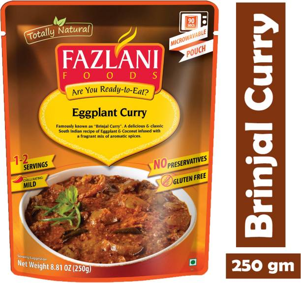 FAZLANI FOODS Ready to Eat Brinjal (Eggplant) Curry, (Pack of 1, 250gm) 250 g