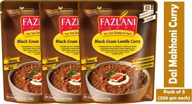 FAZLANI FOODS Dal Makhani (Black Gram Lentils) Curry, (Pack of 3, 250gm each) 750 g