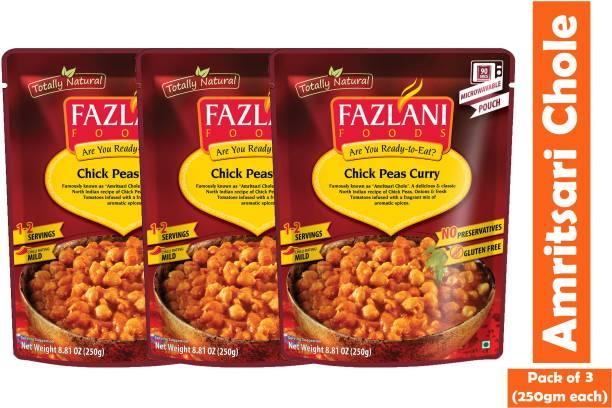 FAZLANI FOODS Amritsari Chole(Chick Peas) Curry, (Pack of 3, 250gm each) 750 g