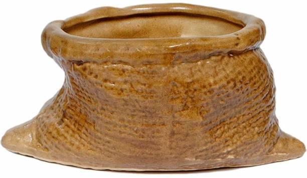 Metier Decorative Glossy Bori Ceramic Planter Pot Ceramic Vase