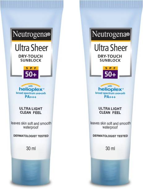 NEUTROGENA Ultra Sheer Dry Touch Sunblock 30ml SPF 50+ (Pack of 2)