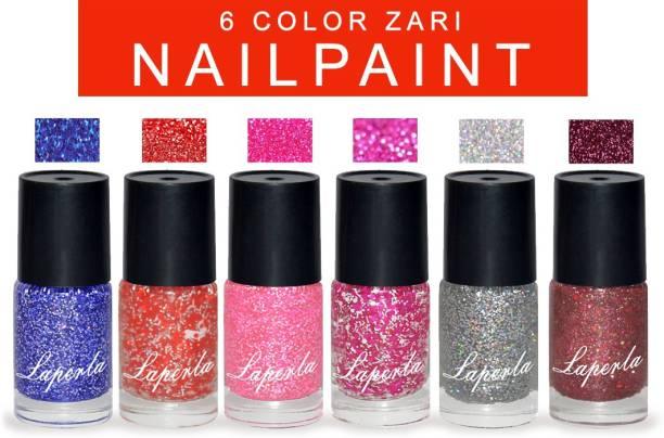 La Perla 6-Color Jari Nail Paint Multicolor