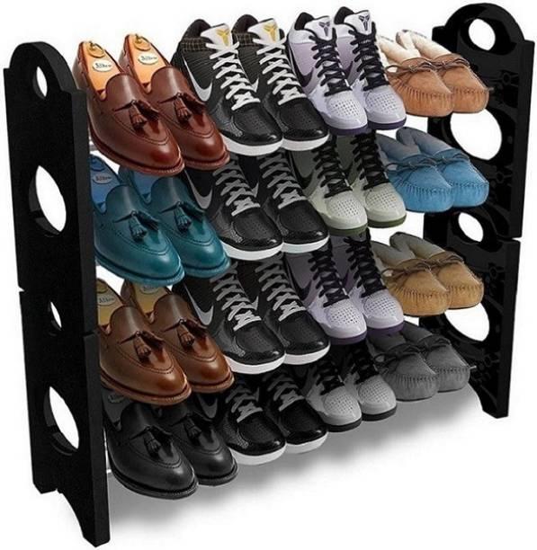 Amazedeals HOME/KITCHEN STORAGE Plastic Collapsible Shoe Stand
