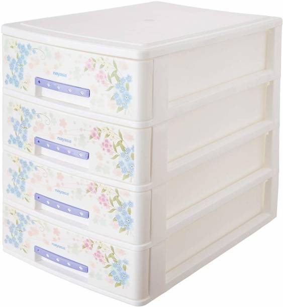 NAYASA Plastic Free Standing Chest of Drawers
